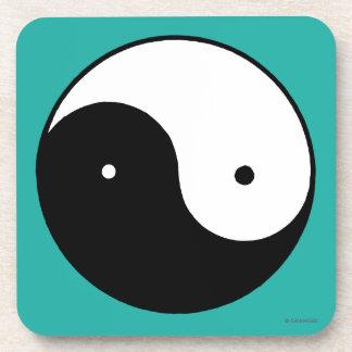 Símbolo de Yin Yang Posavasos De Bebidas