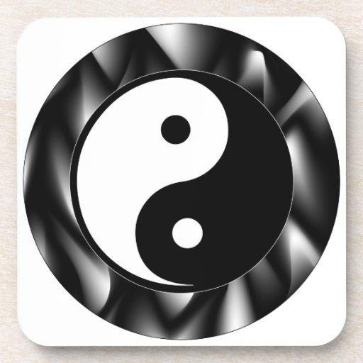 Símbolo de Yin Yang Posavasos De Bebida