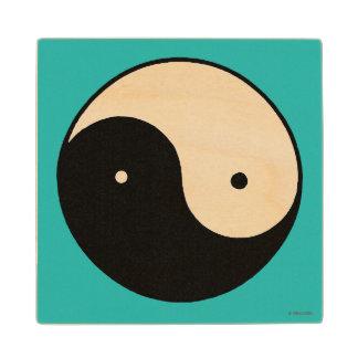 Símbolo de Yin Yang Posavasos De Madera