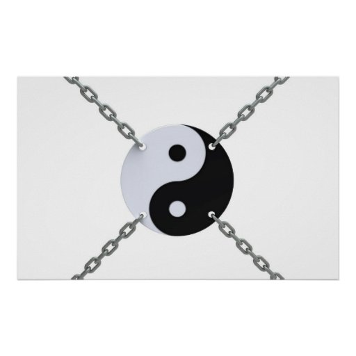 símbolo de Yin-Yang Póster