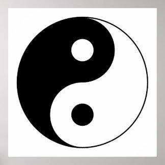 Símbolo de Yin Yang Póster