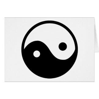 Símbolo de Yin Yang Tarjeta De Felicitación