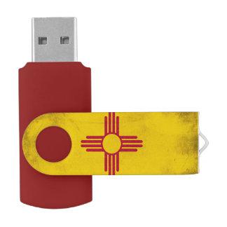 Símbolo de Zia Sun del grunge de New México Pen Drive Giratorio USB 2.0