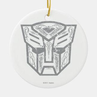 Símbolo decorativo de Autobot Adorno Redondo De Cerámica