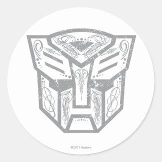 Símbolo decorativo de Autobot Etiquetas Redondas