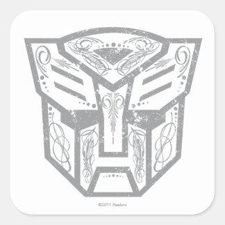 Símbolo decorativo de Autobot Calcomanía Cuadrada Personalizada