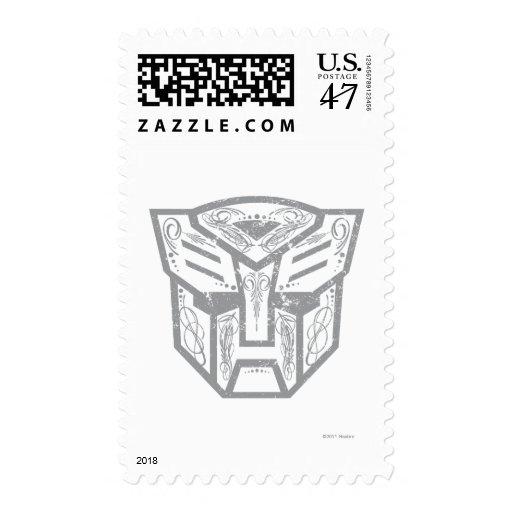 Símbolo decorativo de Autobot Timbre Postal