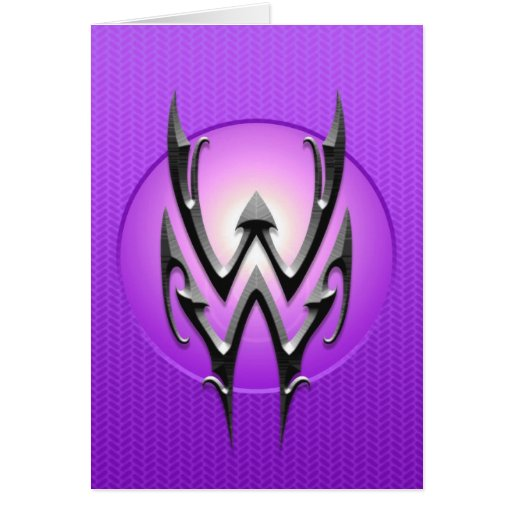 Símbolo del acuario del hierro, púrpura tarjeton