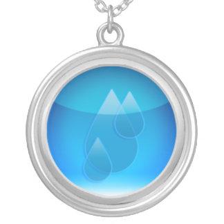 símbolo del agua colgante