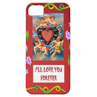 Símbolo del amor cupids alrededor de un corazón iPhone 5 Case-Mate coberturas