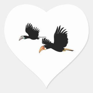 Símbolo del amor eterno pegatina en forma de corazón