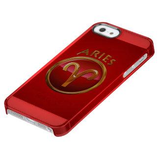 Símbolo del aries funda clear para iPhone SE/5/5s
