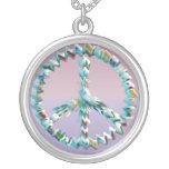 Símbolo del arte de la paz collares personalizados