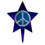 Símbolo del arte de la paz decoración de tarta