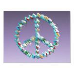 Símbolo del arte de la paz invitación 10,8 x 13,9 cm