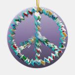 Símbolo del arte de la paz ornamento de navidad