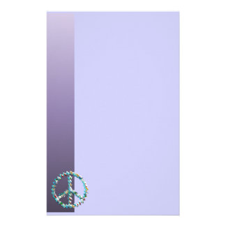 Símbolo del arte de la paz papelería de diseño