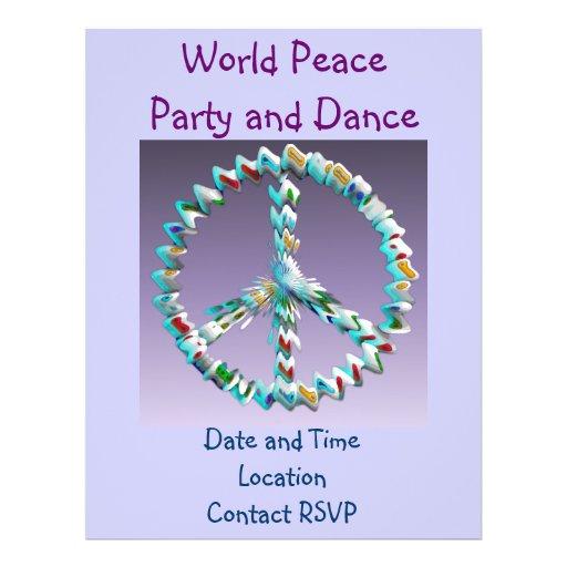Símbolo del arte de la paz tarjeta publicitaria
