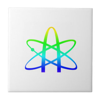 Símbolo del ateísmo azulejo cuadrado pequeño