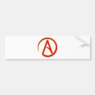 Símbolo del ateísmo etiqueta de parachoque