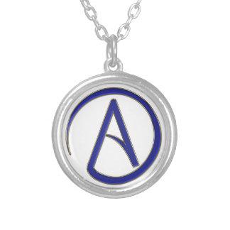 Símbolo del ateísmo collar plateado