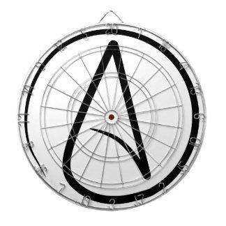 Símbolo del ateísmo tablero de dardos