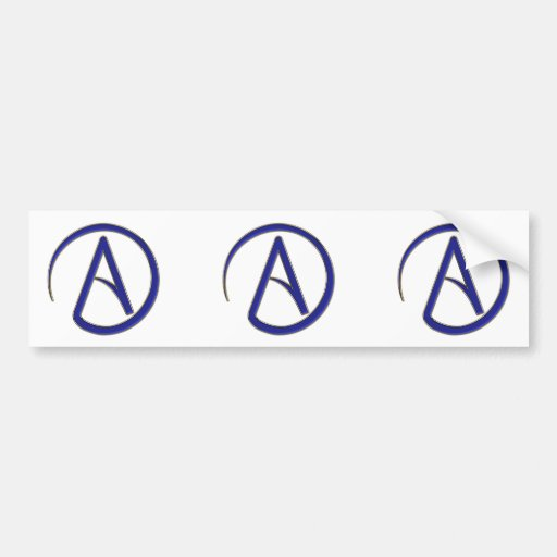 Símbolo del ateísmo pegatina para auto