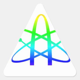 Símbolo del ateísmo pegatina triangular