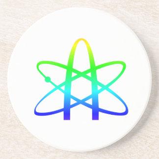 Símbolo del ateísmo posavasos de arenisca