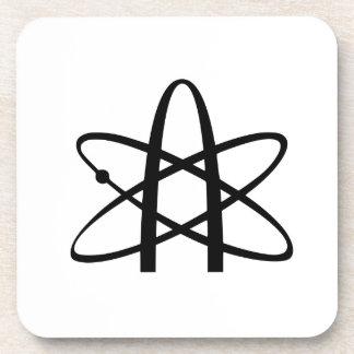 Símbolo del ateísmo posavasos de bebidas