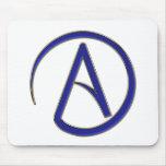 Símbolo del ateísmo tapetes de ratón