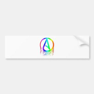 símbolo del ateo del arco iris de la sangría pegatina para auto