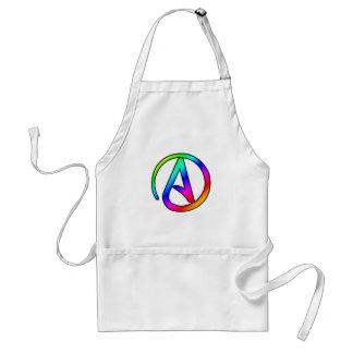 Símbolo del ateo del arco iris delantal
