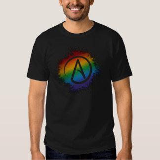 Símbolo del ateo del arco iris polera