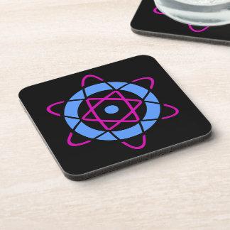 Símbolo del átomo del friki de Sci Fi Posavasos