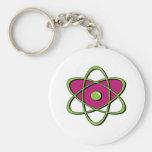 Símbolo del átomo llaveros personalizados