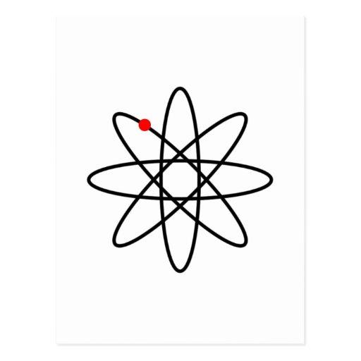 Símbolo del átomo por el zizudesign tarjeta postal