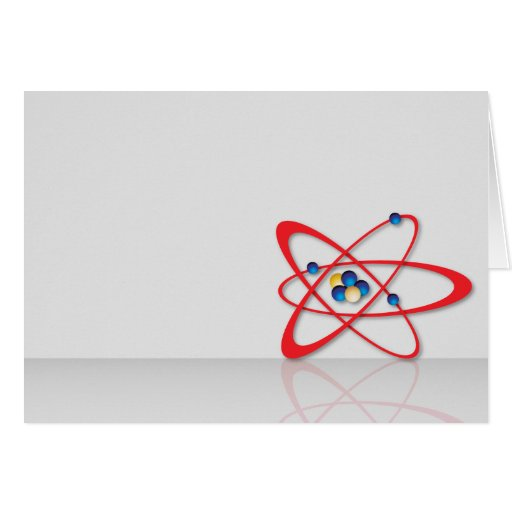 Símbolo del átomo tarjeta de felicitación