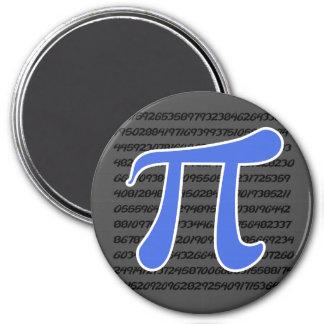 Símbolo del azul real pi imán