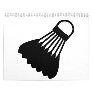 Símbolo del bádminton calendario