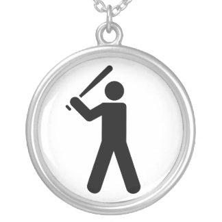 Símbolo del béisbol collar personalizado