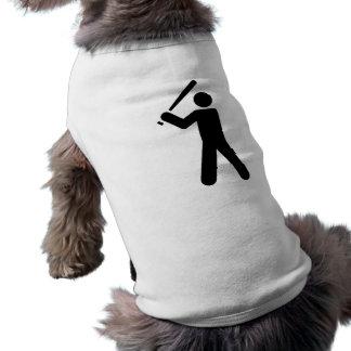 Símbolo del béisbol playera sin mangas para perro