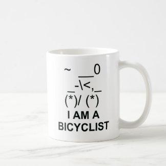 Símbolo del Bicyclist Taza Básica Blanca