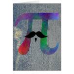 Símbolo del bigote del pi felicitación