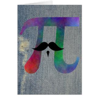 Símbolo del bigote del pi tarjeta de felicitación