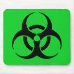 Símbolo del Biohazard Alfombrillas De Ratón