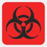 Símbolo del Biohazard Colcomanias Cuadradases