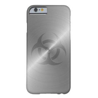 Símbolo del Biohazard en acero Funda De iPhone 6 Barely There