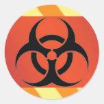 Símbolo del Biohazard Etiqueta