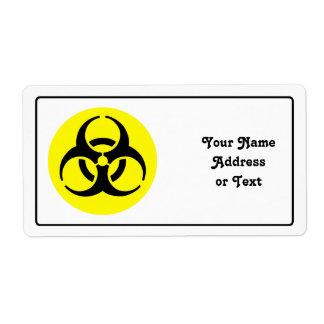 Símbolo del BioHazard Etiqueta De Envío